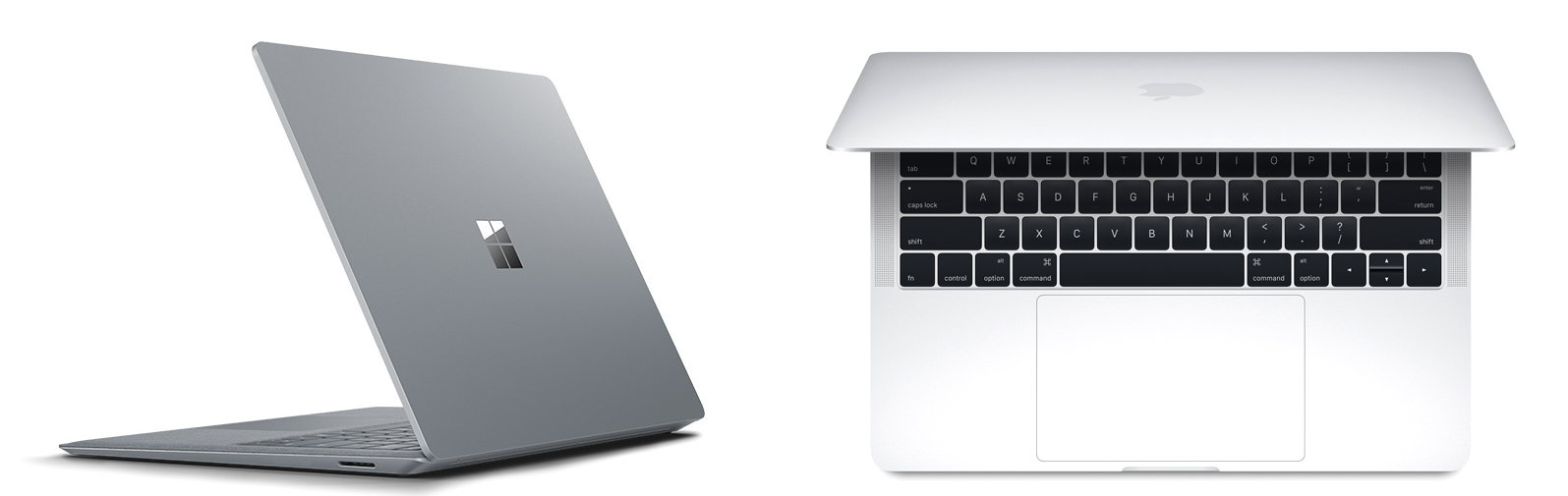 Surface Lap, MacBook Pro side by side